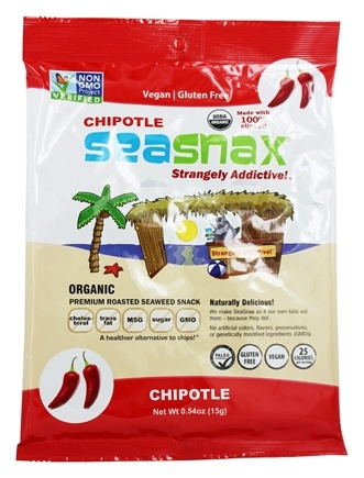SeaSnax - Premium Roasted Seaweed Snack Spicy Chipotle - 5 Sheet(s)