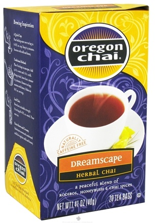 DROPPED: Oregon Chai - Dreamscape Herbal Chai Tea - 20 Tea Bags