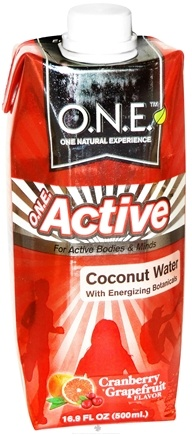 DROPPED: O.N.E. - Active Water with Energizing Botanicals Cranberry Grapefruit Flavor - 16.9 oz. CLEARANCE PRICED