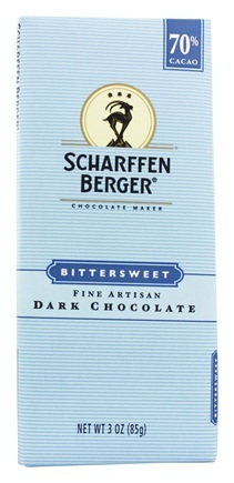 Scharffen Berger - Dark Chocolate Bar 70% Cacao Bittersweet - 3 oz.