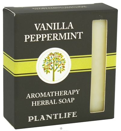 DROPPED: Plantlife Natural Body Care - Aromatherapy Herbal Soap Vanilla Peppermint - 4.5 oz. CLEARANCE PRICED