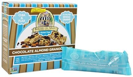 Bakery On Main - Granola Bars Gluten Free Soft & Chewy Chocolate Almond 5 x 1.2 oz. Bars - 6 oz.