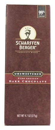 Scharffen Berger - Baking Chocolate Bar 99% Cacao Unsweetened - 9.7 oz.