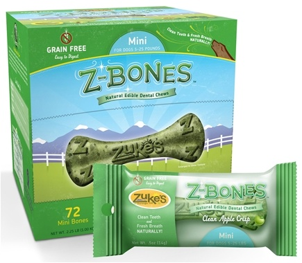 DROPPED: Zuke's - Z-Bones Natural Edible Dental Chews Mini Clean Apple Crisp - 0.5 oz.