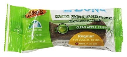 Zuke's - Z-Bones Natural Edible Dental Chews Regular Clean Apple Crisp - 1.5 oz.