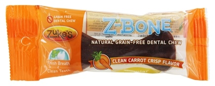 Zuke's - Z-Bones Natural Edible Dental Chews Regular Clean Carrot Crunch - 1.5 oz.