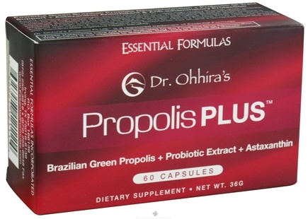 DROPPED: Essential Formulas - Dr. Ohhira's Propolis Plus - 60 Capsules CLEARANCE PRICED