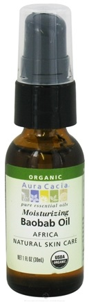 DROPPED: Aura Cacia - Essential Oil Moisturizing Baobab Oil Africa - 1 oz. CLEARANCE PRICED