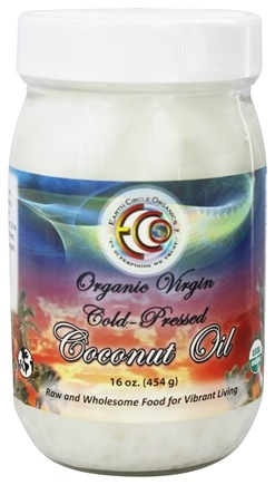 Earth Circle Organics - Organic Virgin Cold-Pressed Coconut Oil - 16 oz.