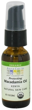 DROPPED: Aura Cacia - Essential Oil Protecting Macadamia Oi Kenya - 1 oz. CLEARANCE PRICED