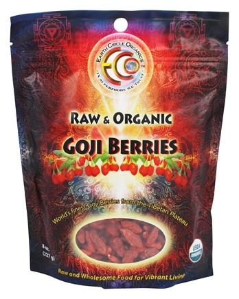 DROPPED: Earth Circle Organics - Tibetan Goji Berries - 8 oz. CLEARANCE PRICED