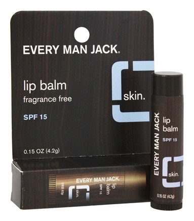 Every Man Jack - Lip Balm Fragrance Free 15 SPF - 0.15 oz.