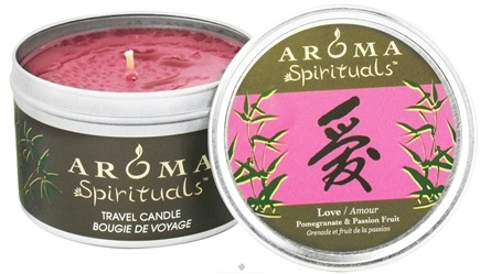 DROPPED: Aroma Naturals - Spirituals Love Naturally Blended Travel Eco-Candle Pomegranate & Passion Fruit - 6.5 oz. CLEARANCE PRICED