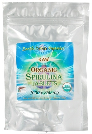 DROPPED: Earth Circle Organics - Spirulina Organic Tablets 250 mg. - 1000 Tablets