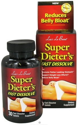 DROPPED: Laci Le Beau - Super Dieter's Fast Dissolve - 30 Tablets Senna Leaf Extract