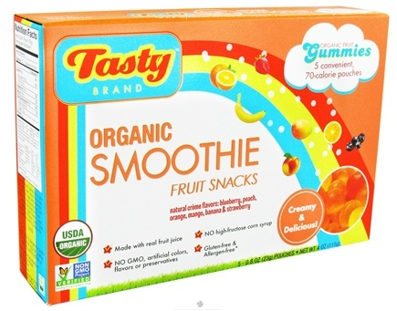 DROPPED: Tasty Brand - Organic Smoothie Fruit Snacks Gummies - 5 Packet(s)