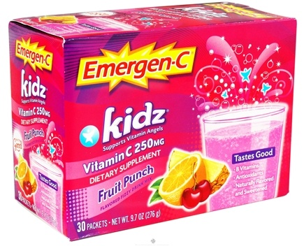 Alacer - Emergen-C Kidz Vitamin C Fruit Punch 250 mg. - 30 Packet(s)