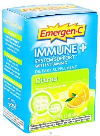 DROPPED: Alacer - Emergen-C Immune Plus System Support with Vitamin D Citrus - 10 Packet(s) CLEARANCE PRICED