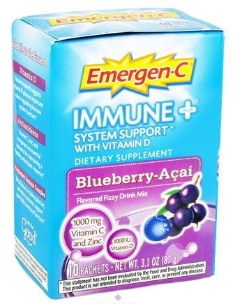 DROPPED: Alacer - Emergen-C Immune Plus System Support with Vitamin D Blueberry-Acai - 10 Packet(s)