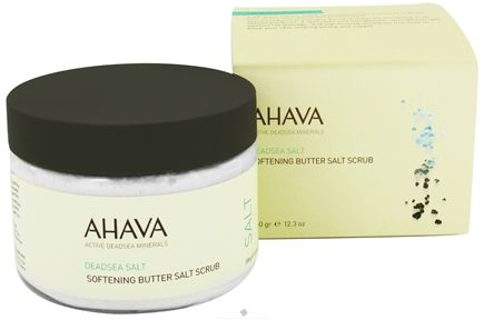 DROPPED: AHAVA - DeadSea Salt Softening Butter Salt Scrub Tangerine & Cedarwood - 12.3 oz. CLEARANCE PRICED