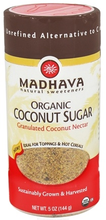 DROPPED: Madhava Natural Sweeteners - Organic Coconut Sugar Granulated Coconut Nectar - 5 oz.