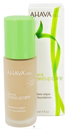 DROPPED: AHAVA - Mineral Makeup Care DeadSea Algae Rich Foundation Fragrance-Free Bright Dune - 1 oz. CLEARANCE PRICED