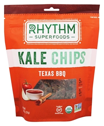 Rhythm Superfoods - Organic Kale Chips Raw Texas BBQ - 2 oz.