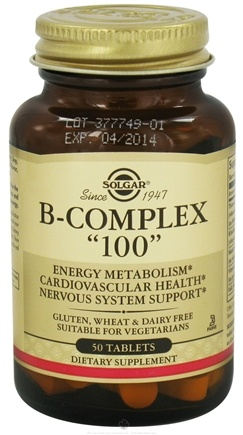DROPPED: Solgar - B-Complex 100 - 50 Tablets CLEARANCE PRICED