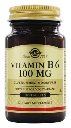 Solgar - Vitamin B6 100 mg. - 100 Tablets
