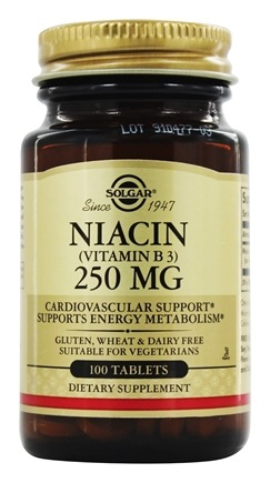 Solgar - Niacin (Vitamin B3) 250 mg. - 100 Tablets