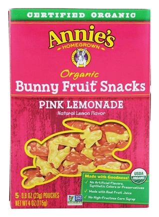 Annie's - Organic Bunny Fruit Snacks Pink Lemonade - 5 Packet(s)