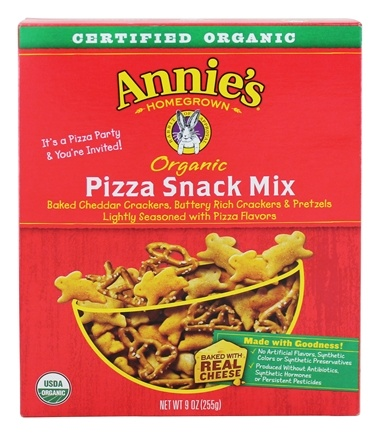 DROPPED: Annie's Homegrown - Organic Snack Mix Pizza - 9 oz. CLEARANCE PRICED