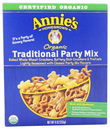 DROPPED: Annie's Homegrown - Organic Traditional Party Mix - 9 oz.