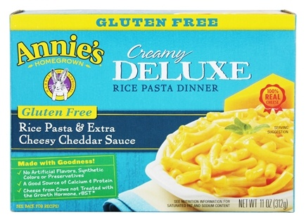 DROPPED: Annie's Homegrown - Creamy Deluxe Rice Pasta & Extra Cheesy Cheddar Sauce - 11 oz. CLEARANCE PRICED