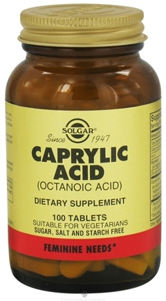 DROPPED: Solgar - Caprylic Acid (Octanic Acid) 365 mg. - 100 Tablets
