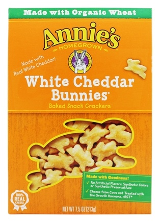 Annie's - Bunnies All-Natural Baked Snack Crackers White Cheddar - 7.5 oz.