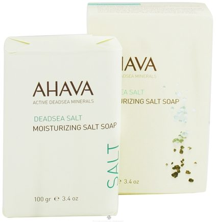 DROPPED: AHAVA - DeadSea Salt Moisturizing Salt Bar Soap - 3.4 oz. CLEARANCE PRICED