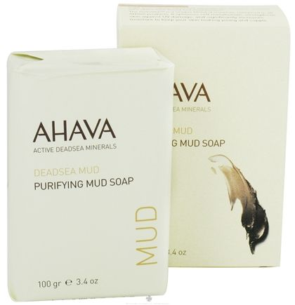 DROPPED: AHAVA - DeadSea Mud Purifying Mud Bar Soap - 3.4 oz. CLEARANCE PRICED