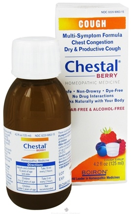DROPPED: Boiron - Chestal Cough Syrup Berry - 4.2 oz. CLEARANCE PRICED