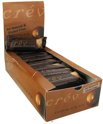 DROPPED: Crev - Truffle Bar All Natural Chocolate Fix - 1.8 oz.