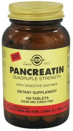 DROPPED: Solgar - Pancreatin Quadruple Strength With Digestive Enzymes - 100 Tablets