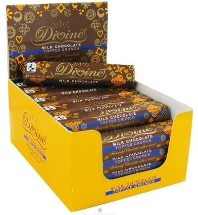 DROPPED: Divine - Milk Chocolate Bar Toffee Crunch - 1.5 oz.