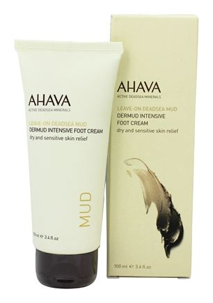 DROPPED: AHAVA - Leave-On DeadSea Mud Dermud Intensive Foot Cream - 3.4 oz.