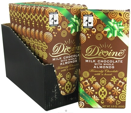 DROPPED: Divine - Milk Chocolate Bar with Whole Almonds - 3.5 oz.