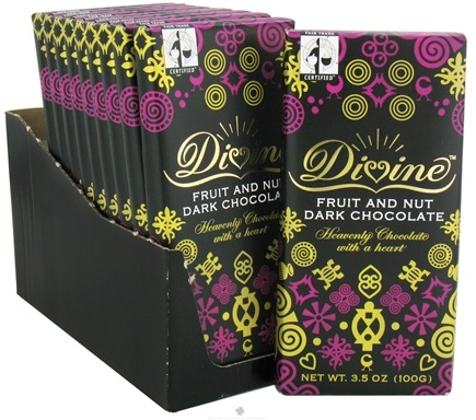 DROPPED: Divine - Dark Chocolate Bar Fruit and Nut - 3.5 oz. CLEARANCE PRICED