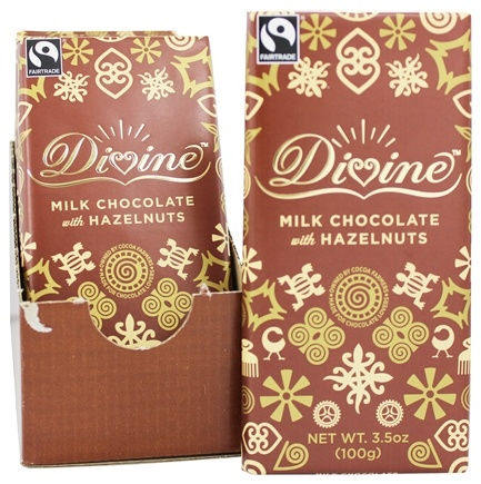 DROPPED: Divine - Milk Chocolate Bar Hazelnut - 3.5 oz.