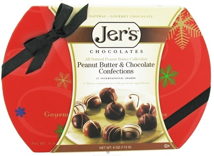 DROPPED: Jer's - Confection Gift Box Peanut Butter & Chocolate - 4 oz. CLEARANCE PRICED