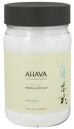 DROPPED: AHAVA - DeadSea Salt Mineral Bath Salt Natural - 32 oz. CLEARANCE PRICED