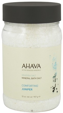 DROPPED: AHAVA - DeadSea Salt Mineral Bath Salt Comforting Juniper - 32 oz. CLEARANCE PRICED