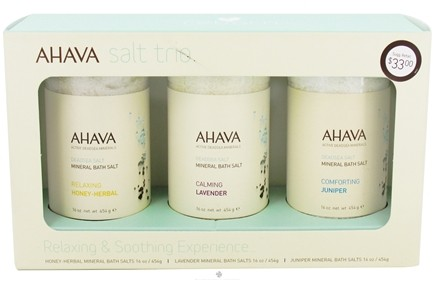 DROPPED: AHAVA - My Skin Reborn Salt Trio Kit - CLEARANCE PRICED